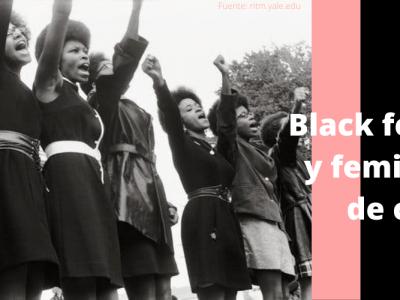 Imagen de mujeres negras haciendo activismo